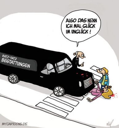cartoon  2007 12 27 glueck im unglueck