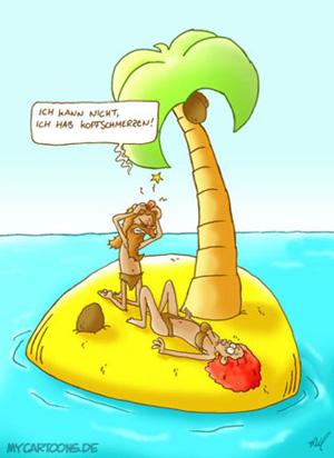 cartoon  2007 09 29 insel schmerz