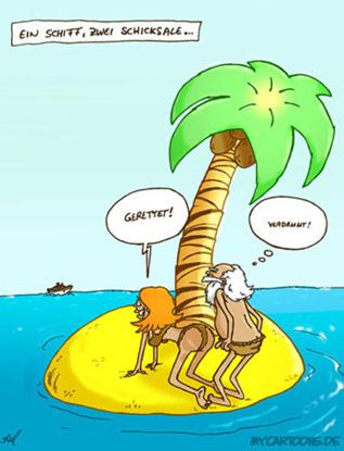 cartoon  2007 10 08 insel schiff