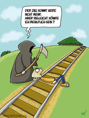 cartoon  2007 11 15 bahn tod